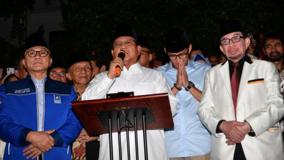Prabowo-Sandiaga Mendaftar Setelah Shalat Jumat di Istiqlal