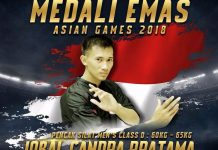 Pendekar Tapak Suci Raih Emas di Asian Games 2018