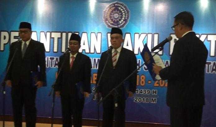 Rektor UMSU Lantik Tiga Wakil