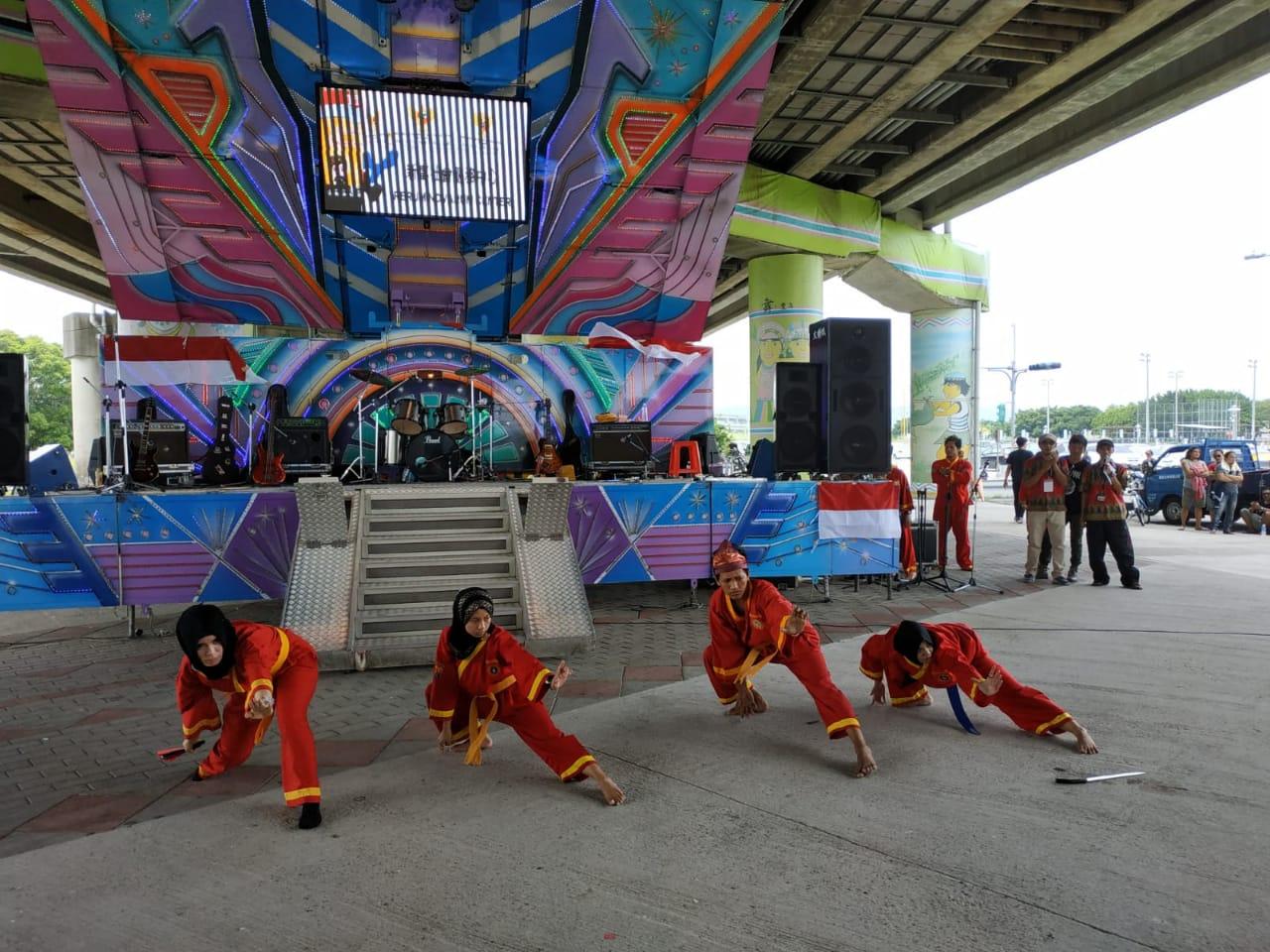 Penampilan para pendekar Tapak Suci Taiwan dalam acara Panggung Hiburan Perayaan Hari Kemerdekaan RI ke-73 yg digelar di Kota Taipei, Taiwan.