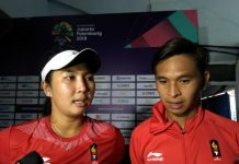 Aldila/Christopher rebut emas tenis Asian Games