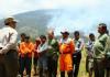 Gunung Ciremai Masih terbakar