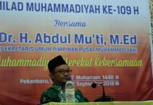 Pimpinan Daerah Muhammadiyah Kota Pekanbaru Gelar Tabligh Akbar