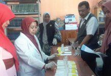 Siswa SMP Muhammadiyah 15 Surabaya Di Test Urine