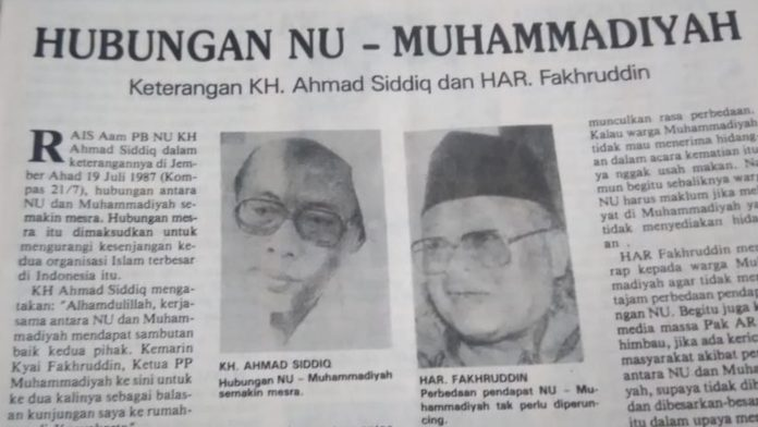 Hubungan NU - Muhammadiyah