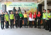 SMP Mupat Joged Jalan Sehat Peduli Gempa dan Tsunami Sulteng
