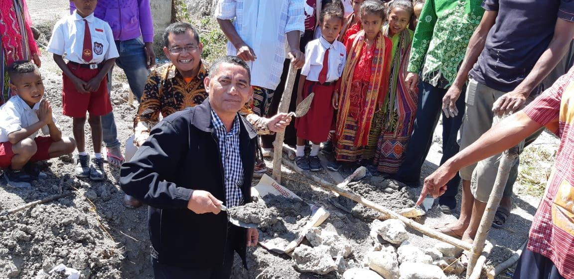 Peletakkan Batu Pertama Pembangunan SD Muhammadiyah Tliu