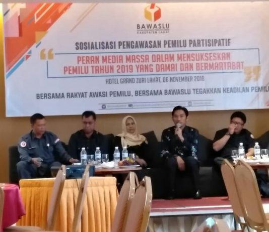 Bawaslu Lahat Ajak Media Massa Sosialisasi Pengawas Pemilu Partisipatif