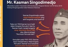 Tokoh Muhammadiyah Kasman Singodimedjo Sang Perumus UUD 45 Menjadi Pahlawan Nasional