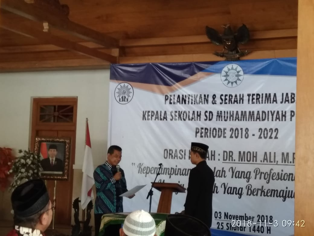 SD Muhammadiyah PK Boyolali gelar Sertijab