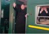 kim Jong-Un Naik Kereta Api