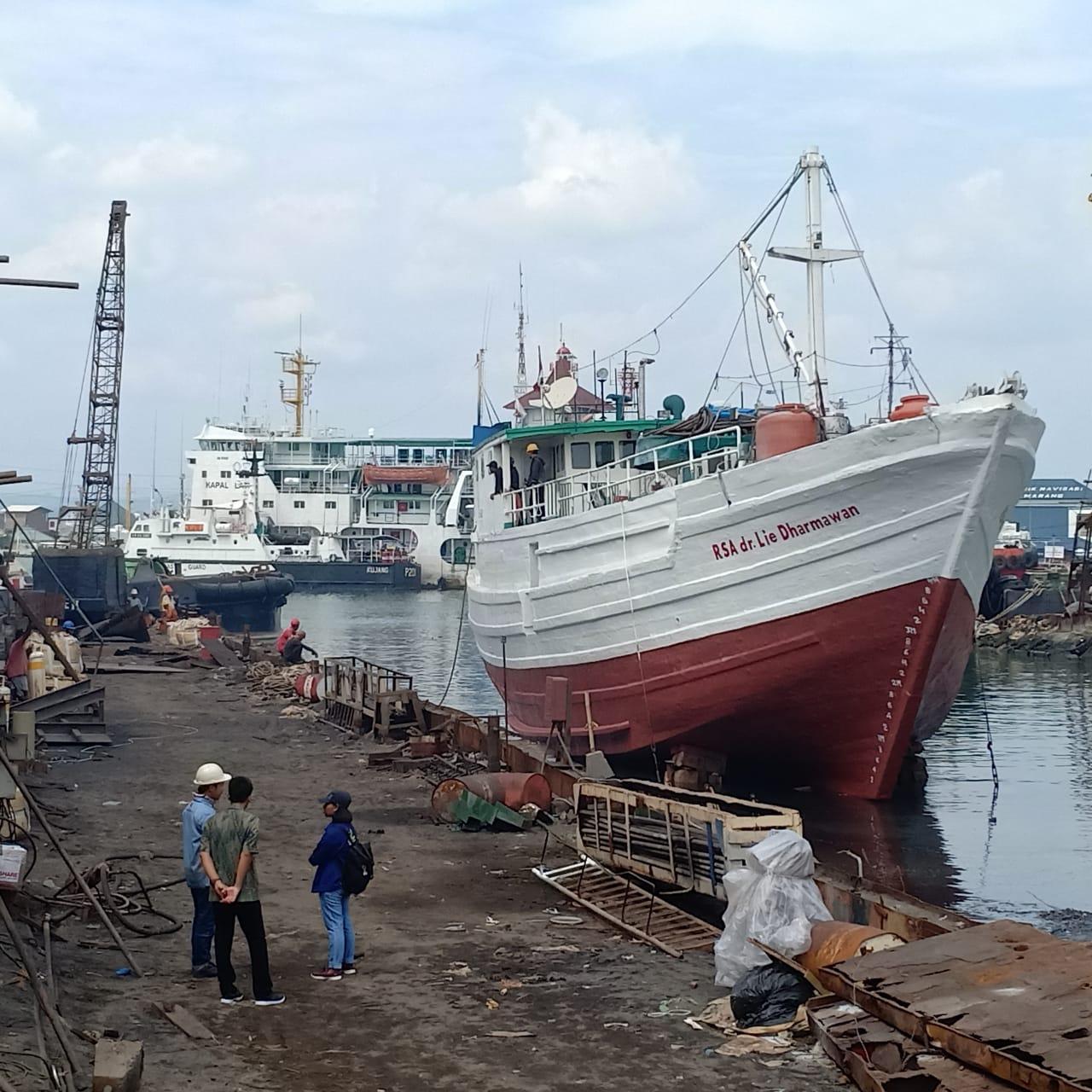 RSA dr Lie Dharmawan Docking Di Galangan Samudera Indonesia