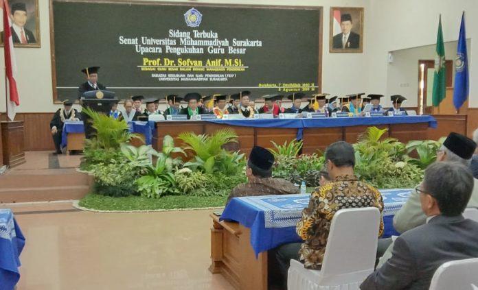 Pidato Pengukuhan Guru Besar Prof Dr Sofyan Anif MSi