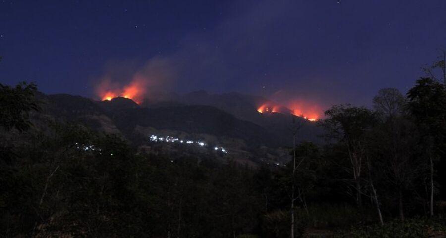Hutan Gunung Merbabu Terbakar