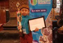 Gibran, Raih Juara III Pada Festival Dalang Cilik Nasional