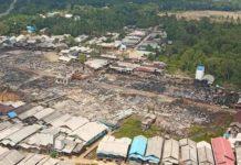 Kebakaran Hebat Terjadi Di Pulau Sebuku