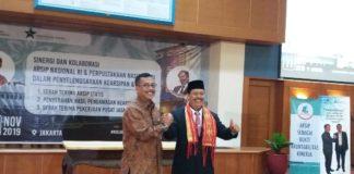 Plt Kepala ANRI M Taufik saat menerima kunjungan kerja Kepala PNRI M Syarif Bando