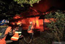 Gedung Lab Fakultas Pertanian Universitas Palangkaraya Terbakar