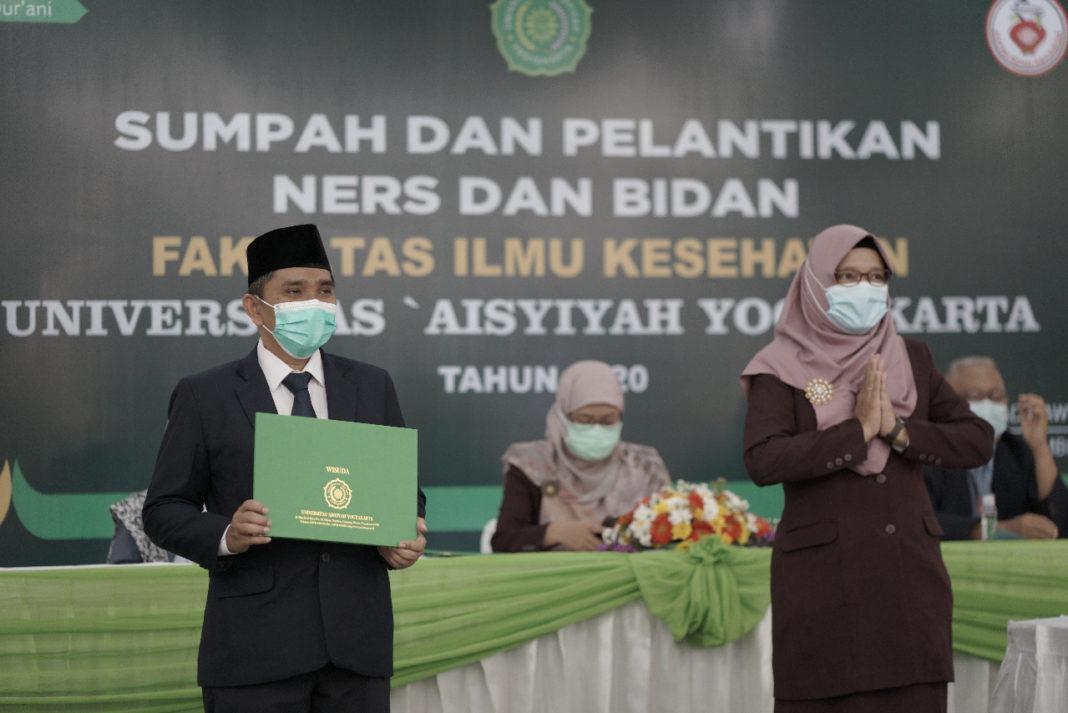 FIKes Unisa Yogyakarta Menutup Tahun 2020 dengan Sumpah dan Pelantikan