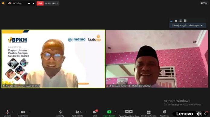Lazismu Bersama Ketua BPKH Anggito Abimanyu Resmikan Dapur Umum di Sulbar