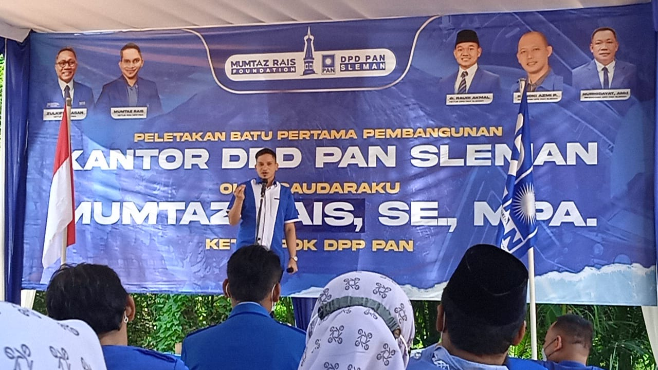 Mumtaz Rais Ketu POK DPP PAM Dalam Sambutan Peletakan Batu Pertama DPD PAN Sleman